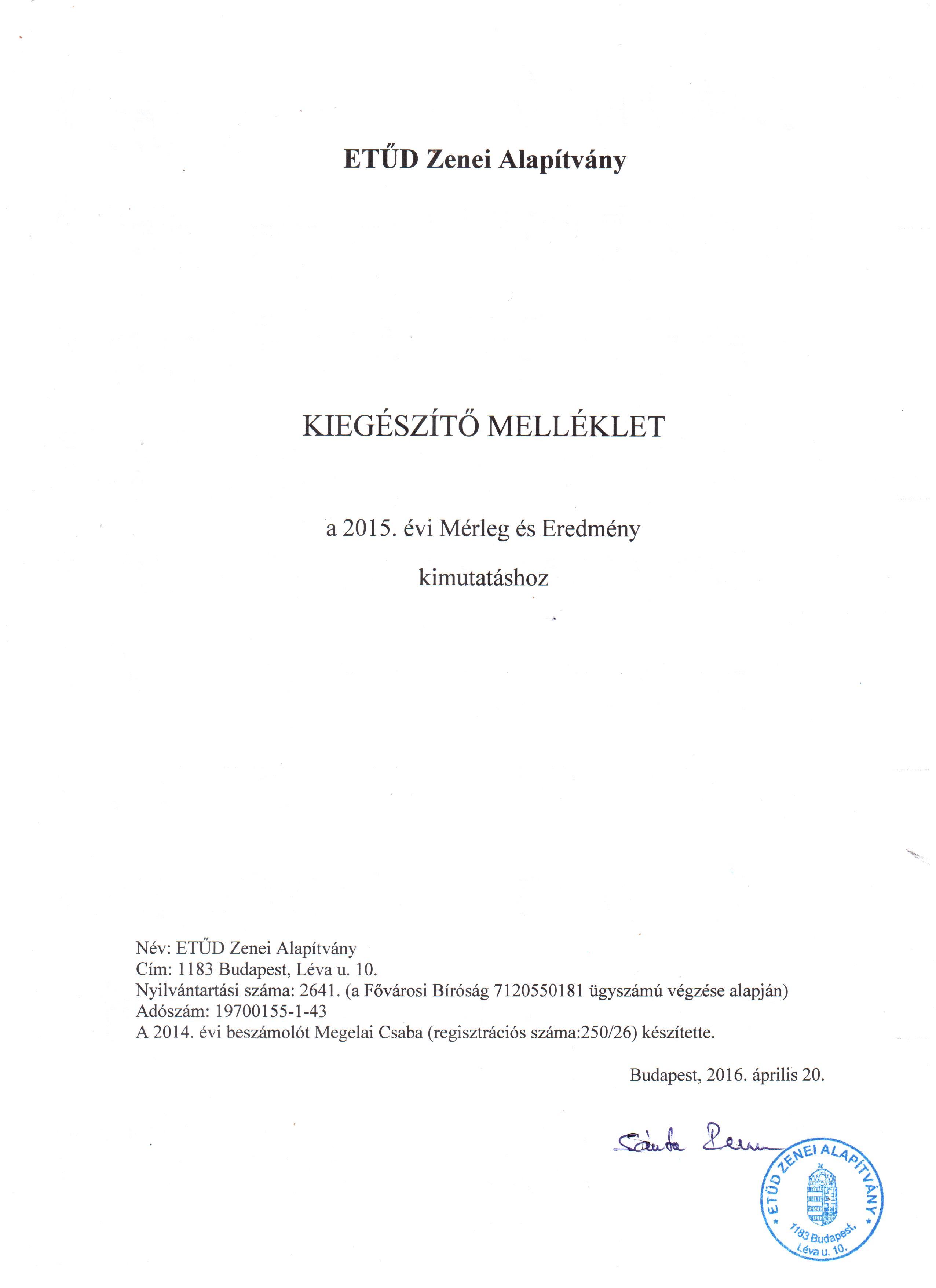 Etüd - Kiegészítő melléklet - 2015. év-1.o.