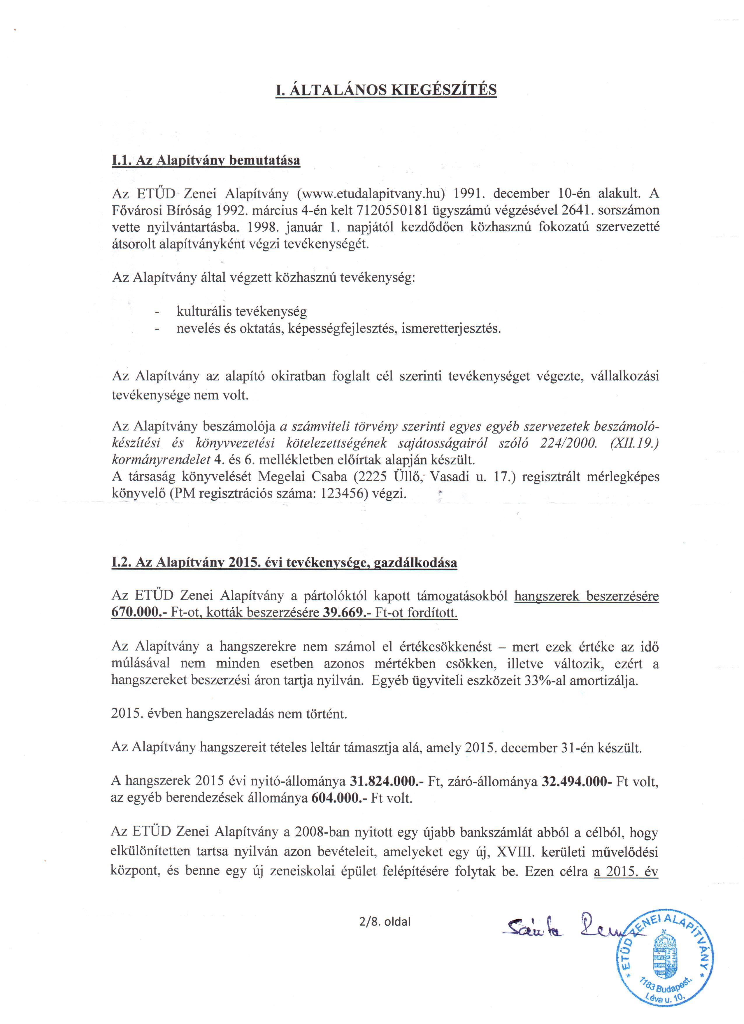 Etüd - Kiegészítő melléklet - 2015. év-2.o.